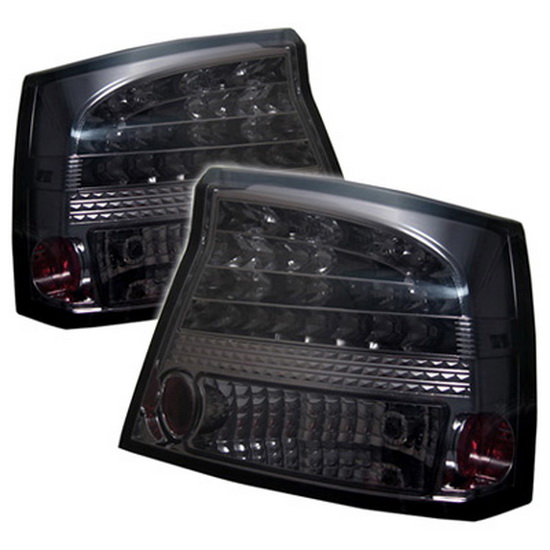 2006-2008 Dodge Charger Smoke Housing LED Tail Lights