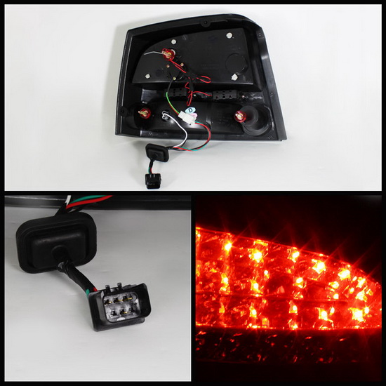 2009-2010 Dodge Charger Smoke Housing LED Tail Lights