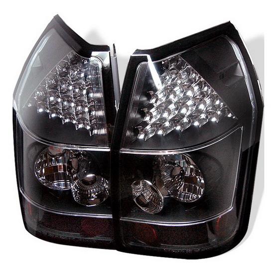 2005-2008 Dodge Magnum Black Housing LED Tail Lights