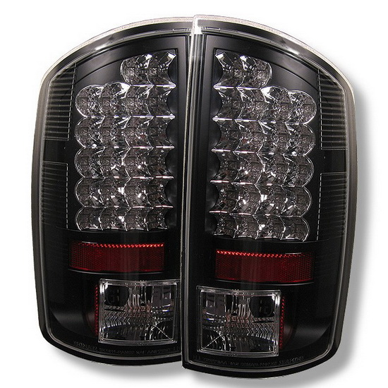 2002-2006 Dodge Ram 1500/2500/3500 Black Housing LED Tail Lights