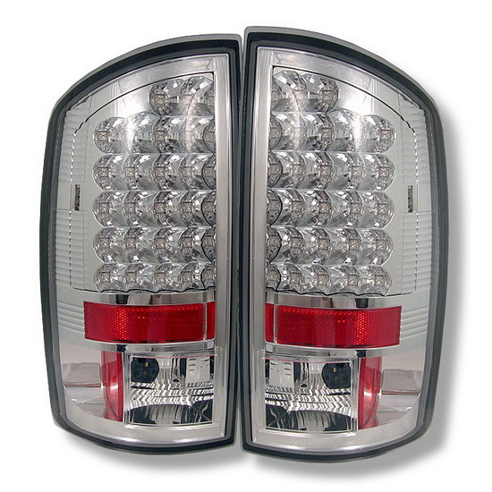 2002 2006 Dodge Ram 1500 2500 3500 Chrome Housing Led Tail Lights
