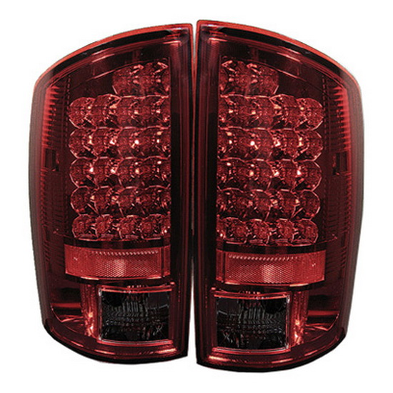 2002-2006 Dodge Ram 1500/2500/3500 Red Smoke Housing LED Tail Lights