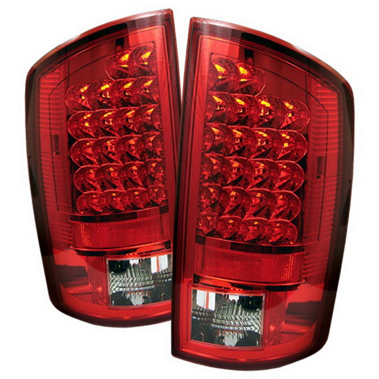 2007-2008 Dodge Ram 1500/2500/3500 Red Clear Housing LED Tail Lights
