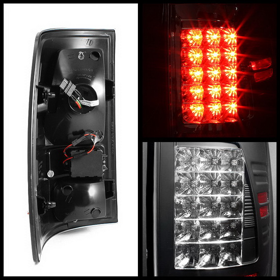 2009-2012 Dodge Ram 1500/2500/3500 Black Housing LED Tail Lights