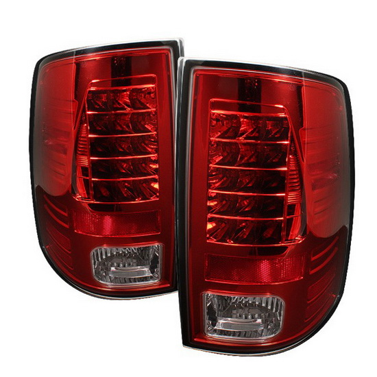 2009-2012 Dodge Ram 1500/2500/3500 Red Clear Housing LED Tail Lights