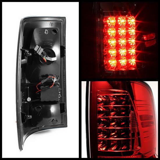 2009-2012 Dodge Ram 1500/2500/3500 Red Smoke Housing LED Tail Lights