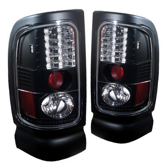 1994 2001 dodge ram 1500 2500 3500 black housing led tail lights. Black Bedroom Furniture Sets. Home Design Ideas