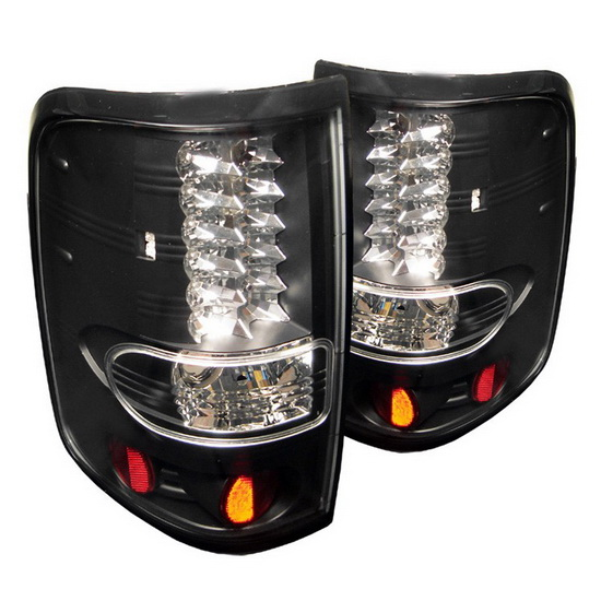 2004-2008 Ford F150 Styleside Black Housing LED Tail Lights