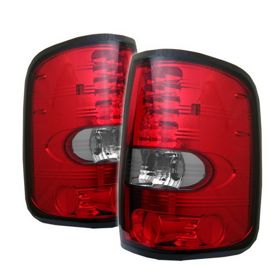 2004-2008 Ford F150 Styleside Red Clear Housing LED Tail Lights