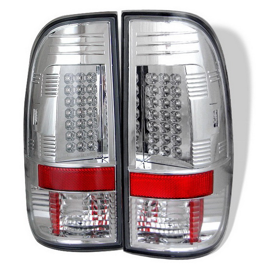 1997-2003 Ford F150 Styleside Chrome Housing LED Tail Lights