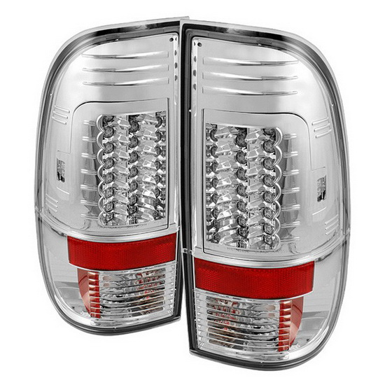 1997-2003 Ford F150 Styleside V2-Upgraded Chrome Housing LED Tail Lights