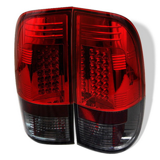 1997-2003 Ford F150 Styleside Red Smoke Housing LED Tail Lights