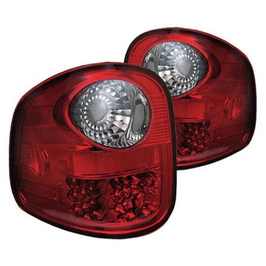 spyder 1997 2003 ford f150 flareside red smoke housing led tail lights. Black Bedroom Furniture Sets. Home Design Ideas