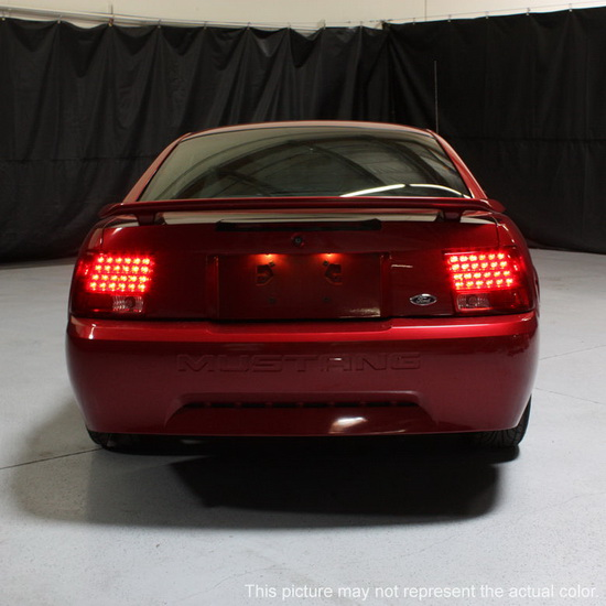 1999 2004 Ford Mustang Black Housing Led Tail Lights