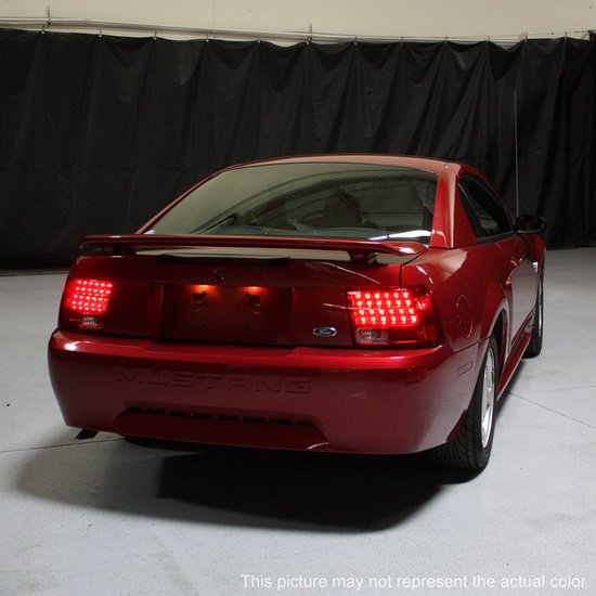 1999-2004 Ford Mustang Smoke Housing LED Tail Lights