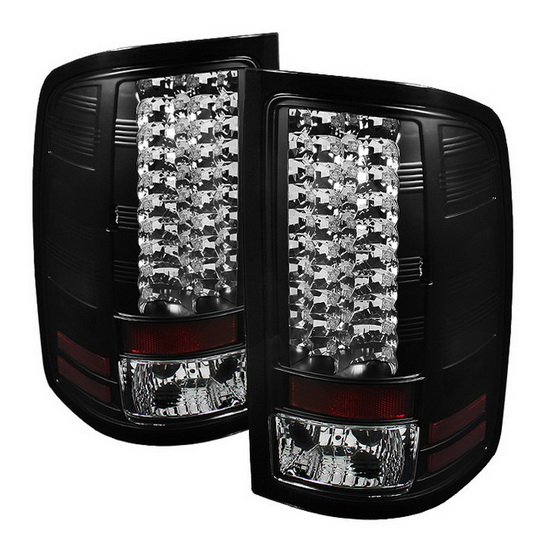 2007-2013 GMC Sierra Black Housing LED Tail Lights