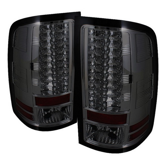 2007-2013 GMC Sierra Smoke Housing LED Tail Lights