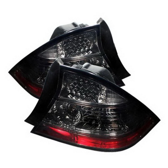 2004-2005 Honda Civic Coupe Smoke Housing LED Tail Lights