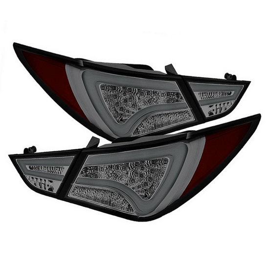 2011-2013 Hyundai Sonata Fiber Optics Light-Bar Style Smoke Housing LED Tail Lights