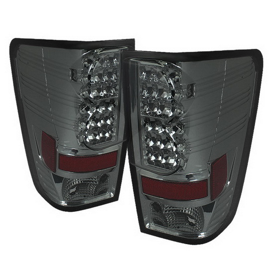 2004-2012 Nissan Titan Smoke Housing LED Tail Lights