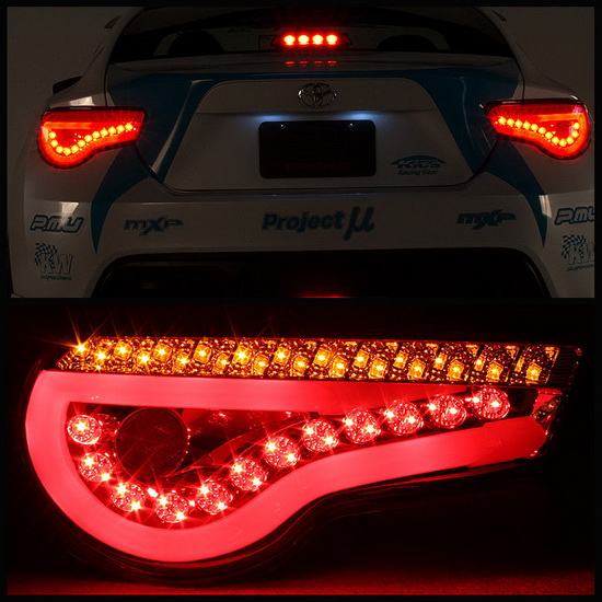 2013 16 Scion Fr S Subaru Brz Jdm Red Housing Led Tail Lights