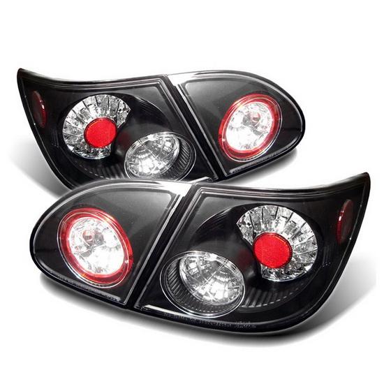 2003-2008 Toyota Corolla Black Housing LED Tail Lights