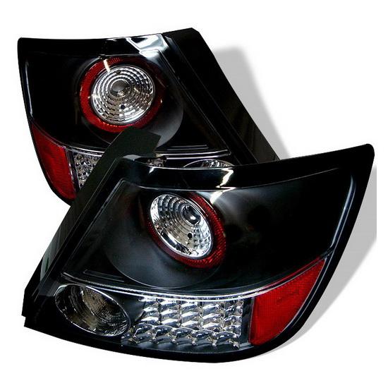 2005-2010 Scion TC Black Housing LED Tail Lights
