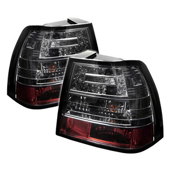 1999-2004 Volkswagen Jetta Smoke Housing LED Tail Lights