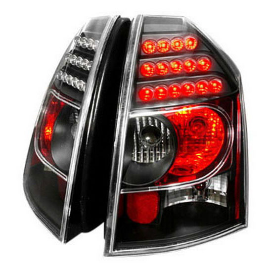 Chrysler 300 2006 Black Led Tail Lights: 05-07 Chrysler 300 Black Housing LED Tail Lights