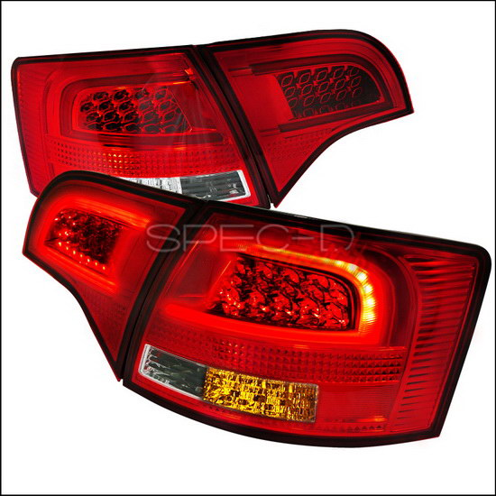 05 08 audi a4 b7 avant 5dr red chrome clear lens full led. Black Bedroom Furniture Sets. Home Design Ideas