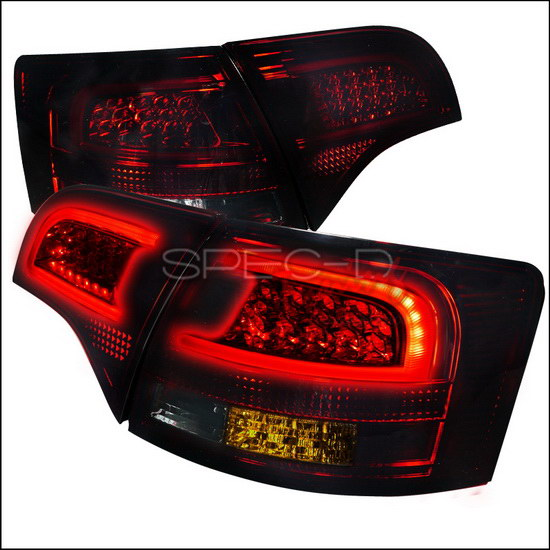 05 08 audi a4 b7 avant 5dr red chrome housing led tail lights. Black Bedroom Furniture Sets. Home Design Ideas