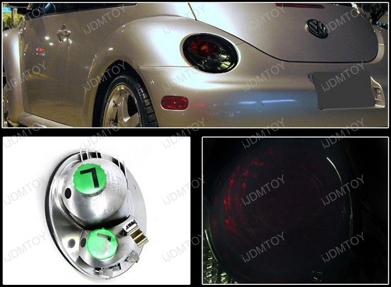 1998 2005 Volkswagen Beetle Smoke Lens Altezza Style Tail Lights