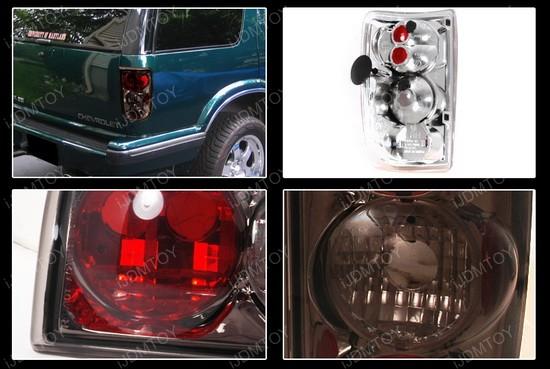 95-04 Chevrolet Blazer Altezza Style Smoke Euro Tail Lights
