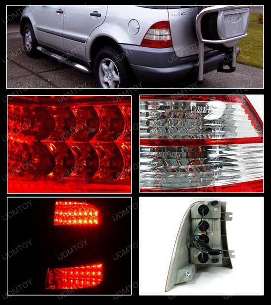 98-05 Mercedes-Benz ML Clear LED Tail Lights