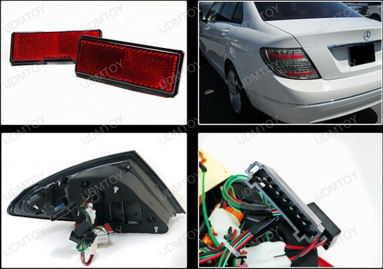 LT BW20408GLED APC 4 08 11 mercedes benz w204 c class smoked lens led tail lights w204 tail light wiring harness at edmiracle.co