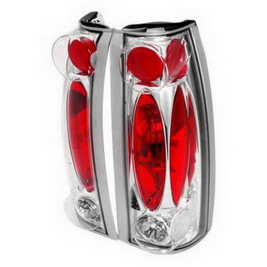 99-00 Cadillac Escalade Altezza Style Chrome Euro Tail Lights