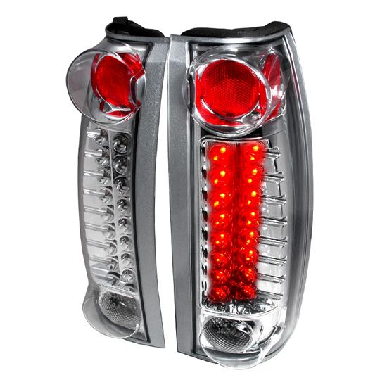 88-99 Chevrolet/GMC 1500/2500/3500 BLAZER TAHOE SUBURBAN Chrome Housing LED Tail Lights