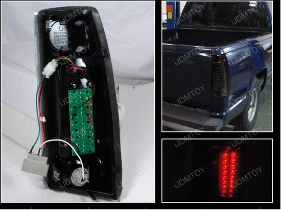 1999-2000 Cadillac Escalade Smoke Lens LED Tail Lights