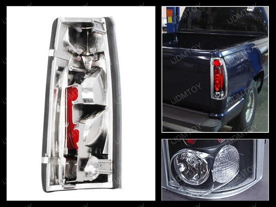 99-00 Cadillac Escalade Altezza Style Black Euro Tail Lights