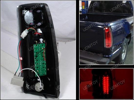 1999-2000 Cadillac Escalade Red Lens LED Tail Lights