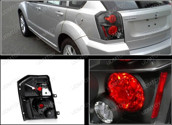 07-10 Dodge CALIBER Black Housing Euro Style Altezza Tail Lights