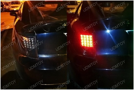 2000-2005 Toyota YARIS CELICA Black Housing Smoke Lens LED Tail Lights