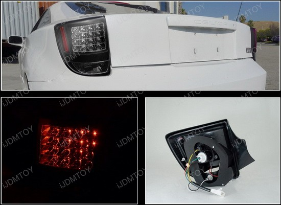00-05 Toyota CELICA GT/GTS Black Housing Clear Lens LED Tail Lights