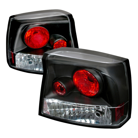 06-08 Dodge CHARGER MODELS Black Housing Euro Style Altezza Tail Lights