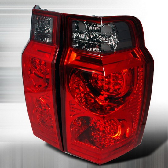 2006-2007 Jeep COMMANDER Red Smoke Lens LED Tail Lights