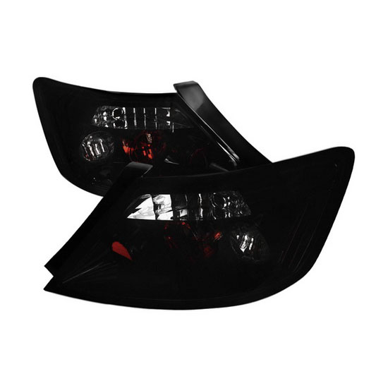2006-2010 Honda CIVIC 2-Door Coupe Black Housing Smoke Lens Tail Lights