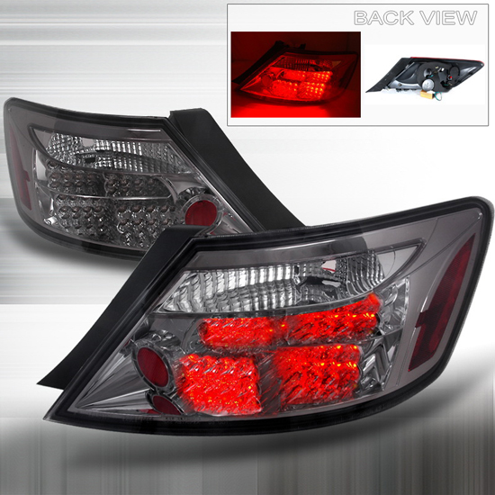 06-08 Honda CIVIC 2DR Smoked Lens LED Tail Lights