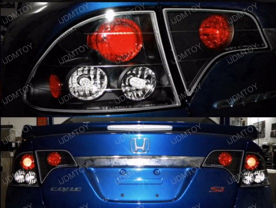 06-10 Honda CIVIC 4DR Black Housing JDM Style Altezza Tail Lights