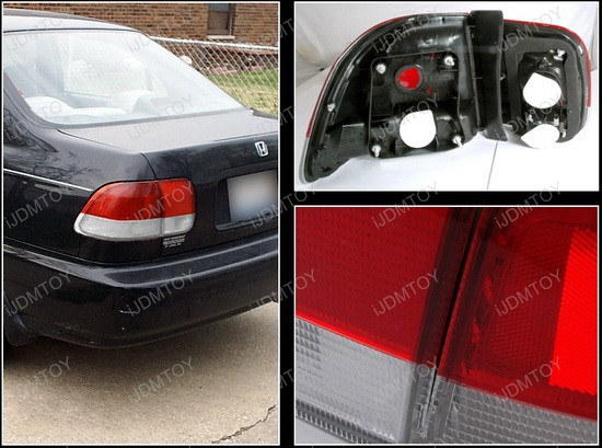 96 98 Honda CIVIC 4DR Red Lens JDM Style Altezza Tail Lights