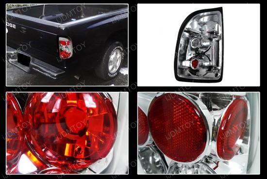 97-04 Dodge Dakota Altezza Style Chrome Euro Tail Lights